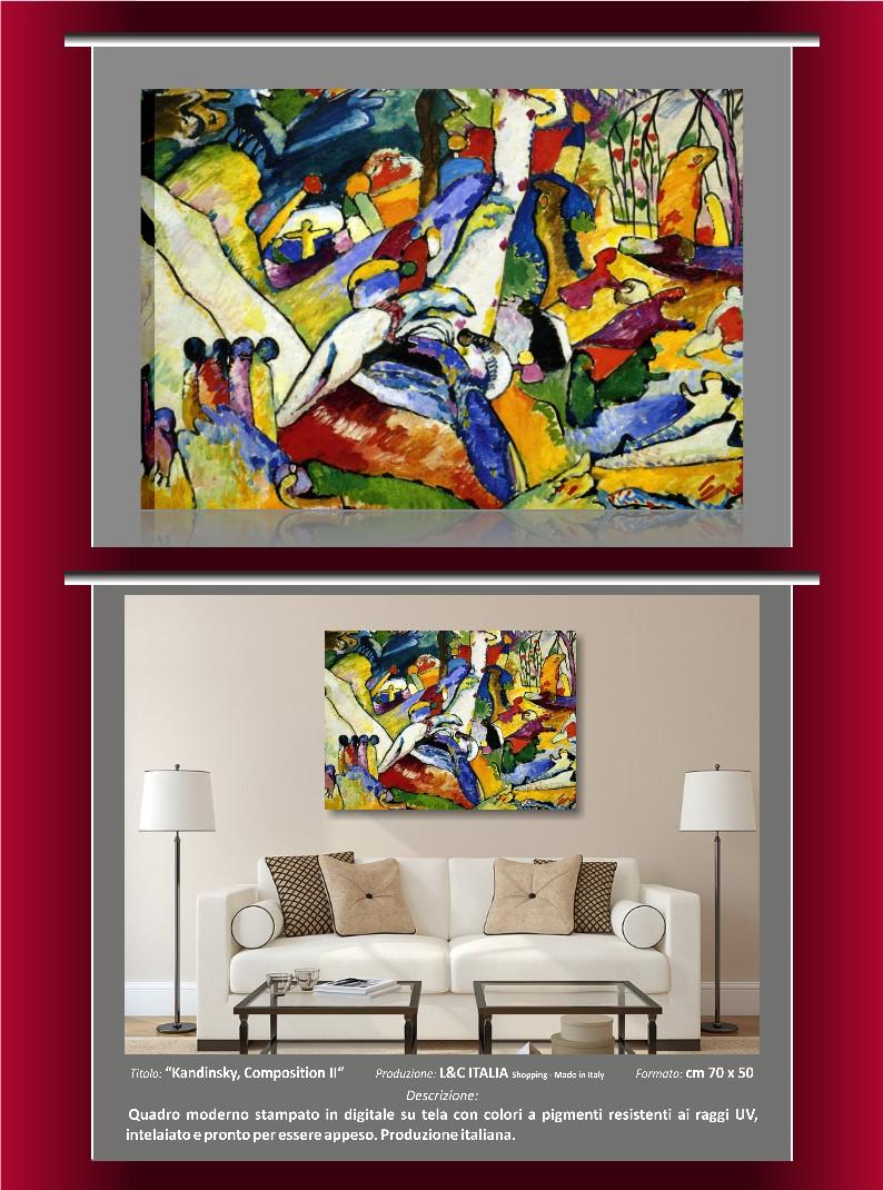 Kandinsky composition ii quadro moderno composizione 2 for Ebay quadri