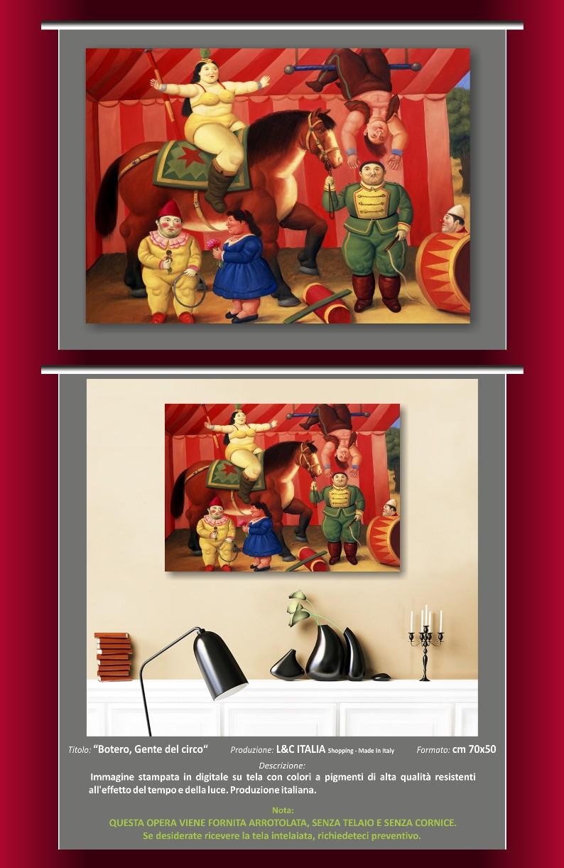 Botero gente del circo stampa su tela per quadro 70x50 - Stampe botero bagno ...