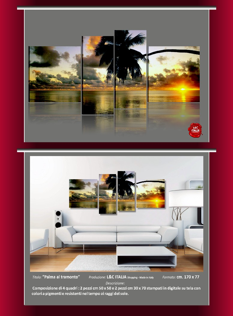 Quadri moderni paesaggi astratti casa arredo pannelli for Poster arredo casa